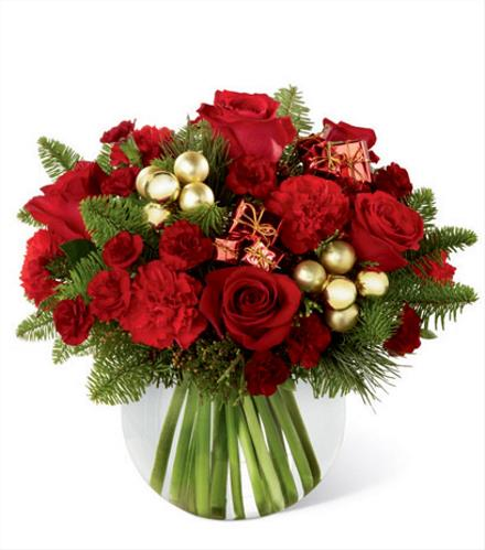Photo of flowers: Holiday Gold Centerpiece