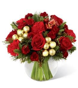 Photo of Holiday Gold Centerpiece FTD - B18A-4943