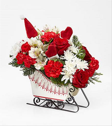 Photo of flowers: Holiday Traditions Sleigh 18-C4