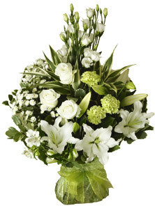 Photo of flowers: Luxury White Rose and Lily Hand-tied Bouquet
