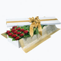 Photo of flowers: Red Roses Boxed or Gift Wrapped