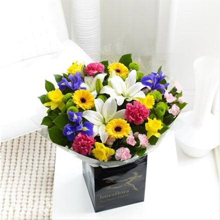 Photo of flowers: Spring Handtied Gift Wrapped.