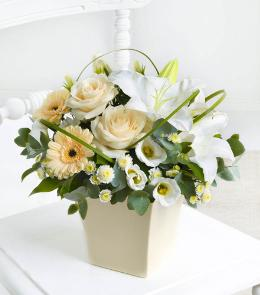 Photo of Cream Exquisite Arrangement  - 500517