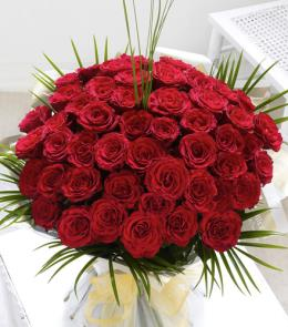 Photo of Fifty 50 Roses Hand Tied Gift Wrapped - 500547