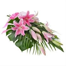 Photo of Graceful Oriental Lilies Gift Wrapped - AUS285