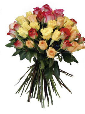 Photo of flowers: Bouquet of Mixed Colored Roses