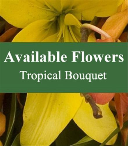 Photo of flowers: Florist Choice Tropical Bouquet