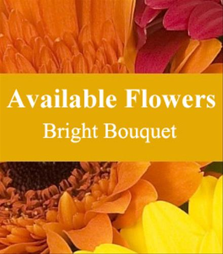 Photo of flowers: Bright Fall Cut Bouquet Gift Wrapped