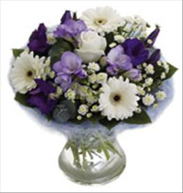 Photo of Blue Perfect Hand Tied in Vase - 500067