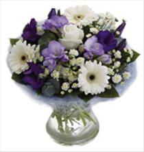 Photo of flowers: Blue Perfect Hand Tied in Vase