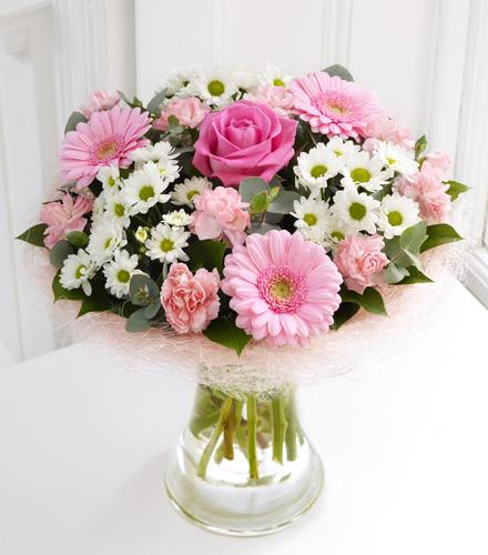 Photo of flowers: Pink Perfect Gift in Vase