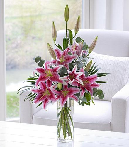 Photo of flowers: Pink Scented Lily Vase