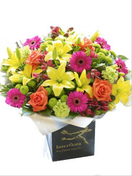 Photo of flowers: Vibrant Hand-tied NO vase
