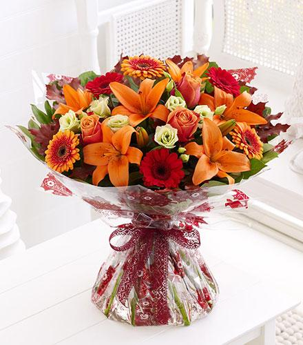 Photo of flowers: Autumn Favourites Hand Tied