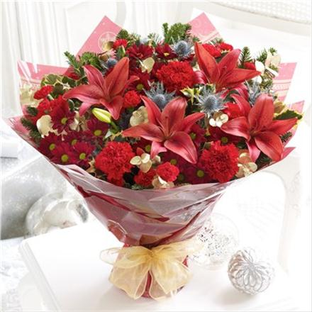 Photo of flowers: Large Christmas Bouquet Hand-tied