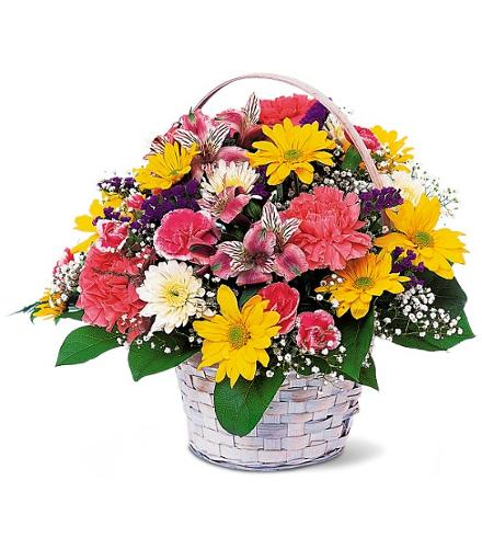 Photo of flowers: Simple Pleasures Flower Basket