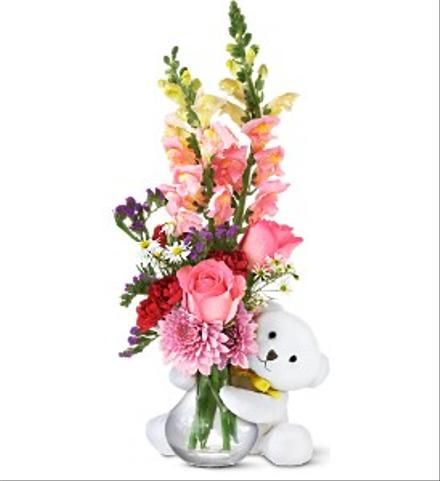 Photo of flowers: Bear Hug Flower Vase