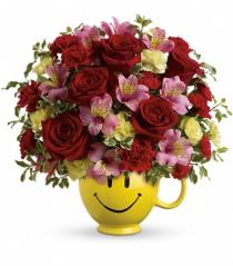 Photo of So Happy You're Mine Smile Mug  with Red Roses  - TEV40-3