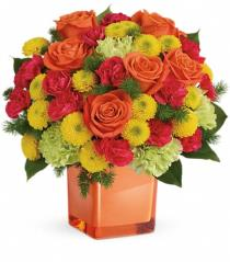 Photo of Citrus Smiles with Roses Teleflora - TEV43-3A