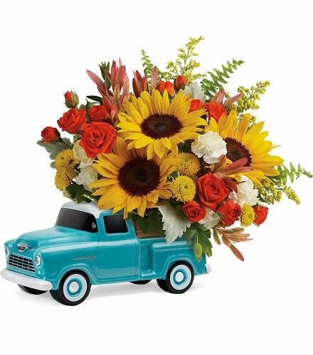 Photo of flowers: Chevy Pickup Truck Bouquet