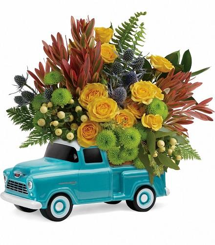 Photo of flowers: Timeless Chevy Pickup Truck