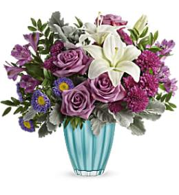 Photo of flowers: Blushing Aqua Bouquet T19E105