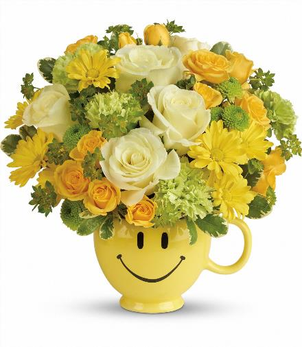 Photo of flowers: You Make Me Smile Mug