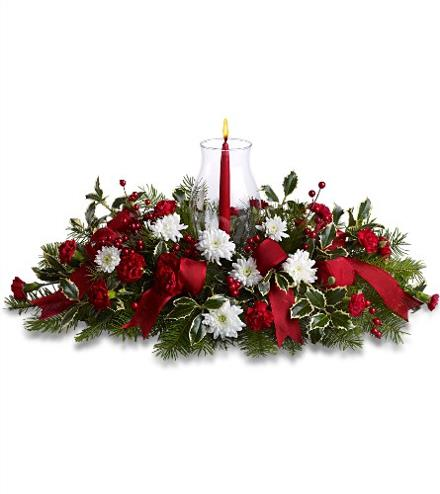 Photo of flowers: Happy Holidays Centerpiece