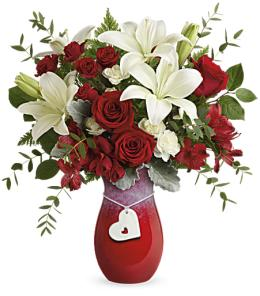 Photo of Delicate Heart Bouquet V105 - T18V105