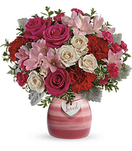 Photo of flowers: Painted In Love Bouquet