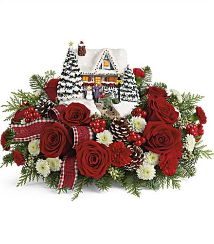 Teleflora Christmas Catalog 2020 Thomas Kinkade's Hero's Welcome Bouquet   Teleflora Christmas