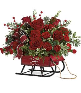 Photo of Joyful Sleigh Bouquet Teleflora - T17X305