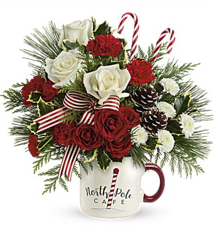 Photo of flowers: Send A Hug Winter Sips Bouquet