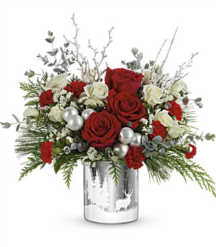 Photo of flowers: T18X600 Winterberry Kisses Bouquet