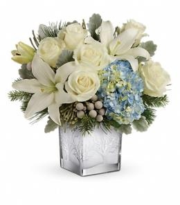Photo of Silver Snow Bouquet Teleflora - T17X610