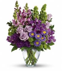 Photo of Lavender Charm Vase Bouquet - TEV42-3