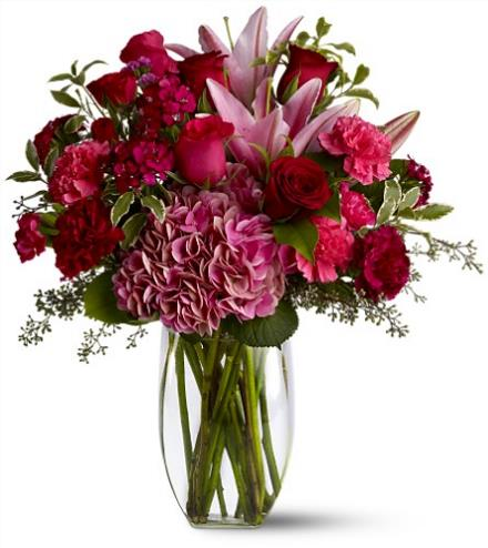 Photo of flowers: Burgundy Blush Vase TFWEB364