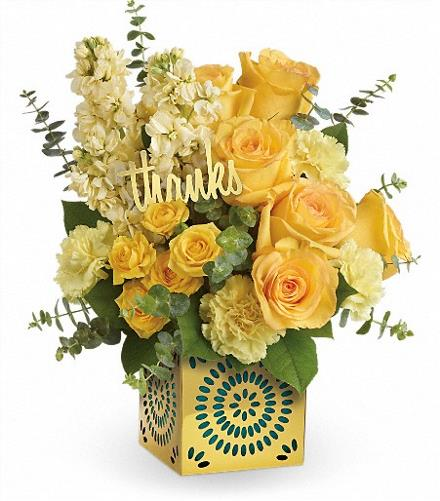 Photo of flowers: Shimmer Of Thanks Bouquet
