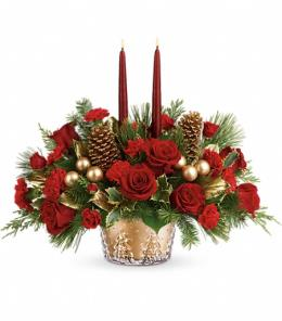 Photo of Festive Glow Centerpiece Teleflora - T17X105