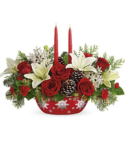 Photo of flowers: Holly Glow Centerpiece