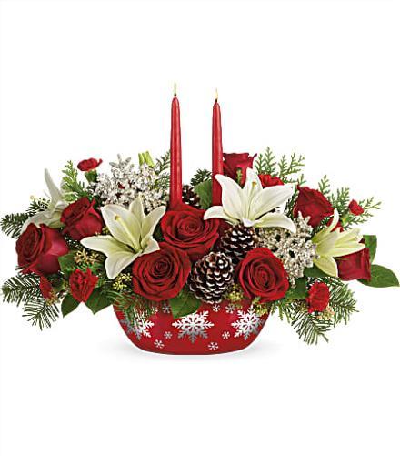 Photo of flowers: Snowflake Treasures Centerpiece 2020