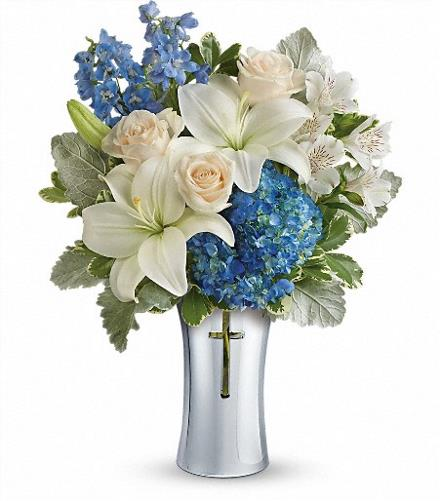 Photo of flowers: Skies Of Remembrance Vase T278-1