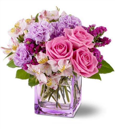 Photo of flowers: Beautiful Day Cube Vase