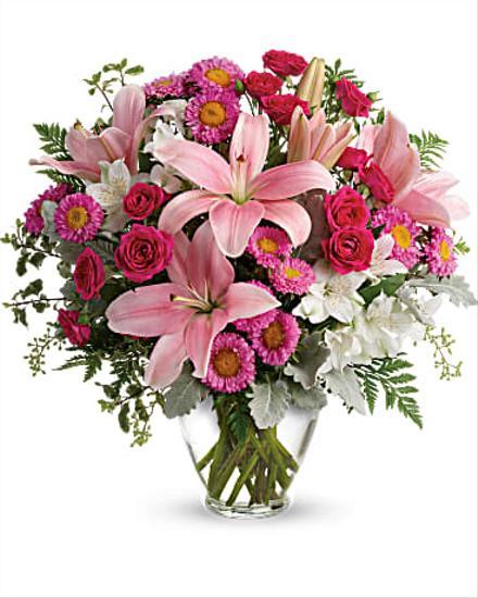 Photo of flowers: Blush Rush Vase Bouquet