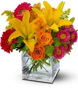 Photo of flowers: Color Splash Time Bouquet