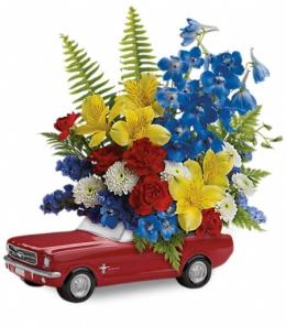 Photo of flowers: Ford '65 Mustang Bouquet