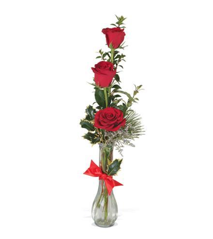 Photo of flowers: 3 Rose Trio Vased