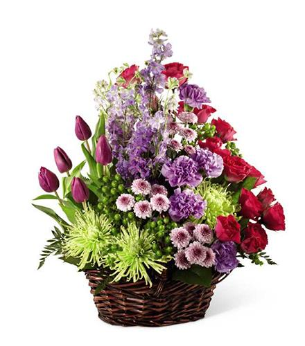 Photo of flowers: Truly Loved Flower Basket