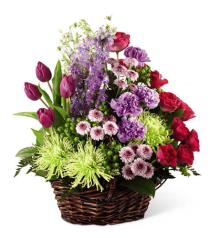 Photo of Truly Loved Flower Basket   - S34-4515