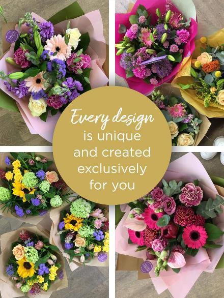 Photo of flowers: Florist Choice Hand Tied  Standard